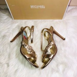 Michael Kors Metallic Tricia Sandals 9.5